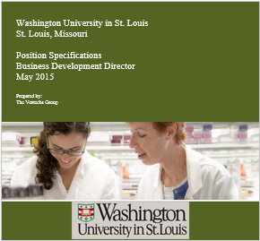 Washington University in St. Louis Business Development Director Position