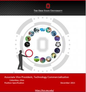 AVP Tech Transfer, The Ohio State University
