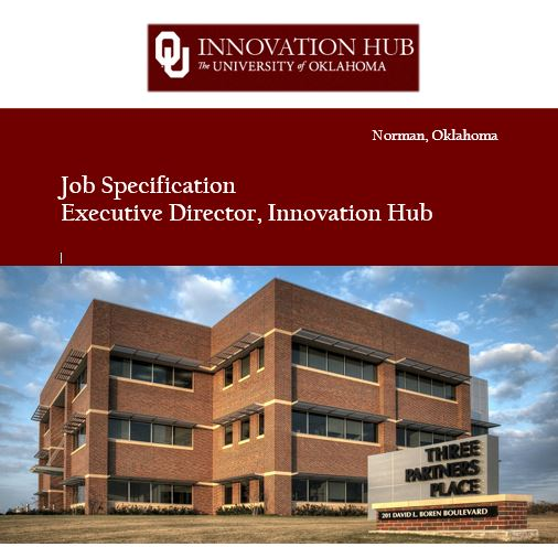 Lead the University of Oklahoma's Innovation Hub