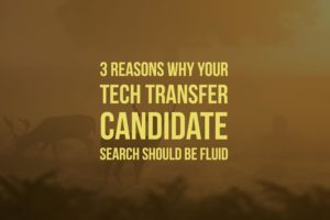 3 Reasons Why Your Tech Transfer Candidate Search Should Be Fluid